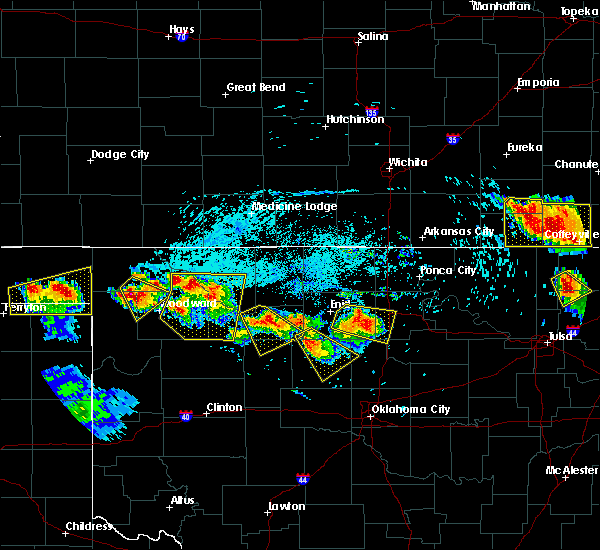 Radar Image for Severe Thunderstorms near Fairmont, OK at 7/11/2020 7:46 PM CDT