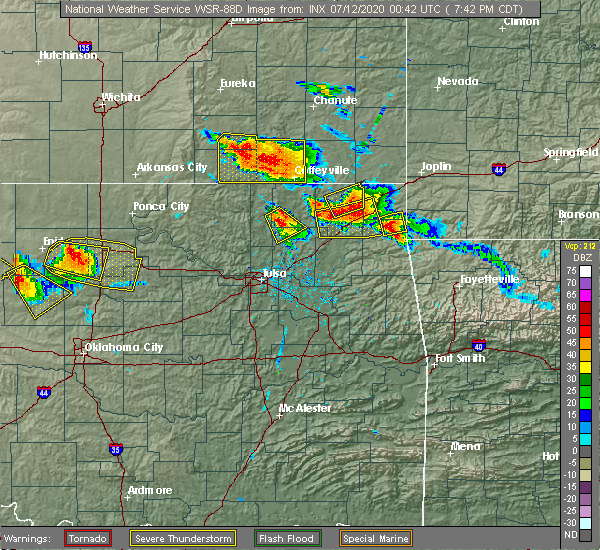 Radar Image for Severe Thunderstorms near Dodge, OK at 7/11/2020 7:47 PM CDT