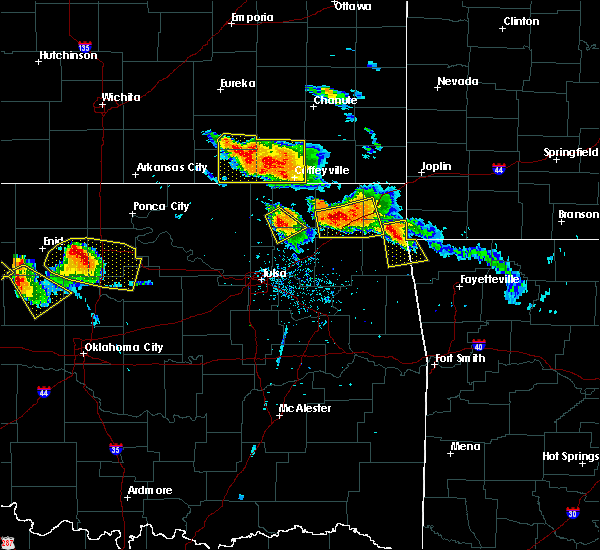 Radar Image for Severe Thunderstorms near Bernice, OK at 7/11/2020 7:51 PM CDT