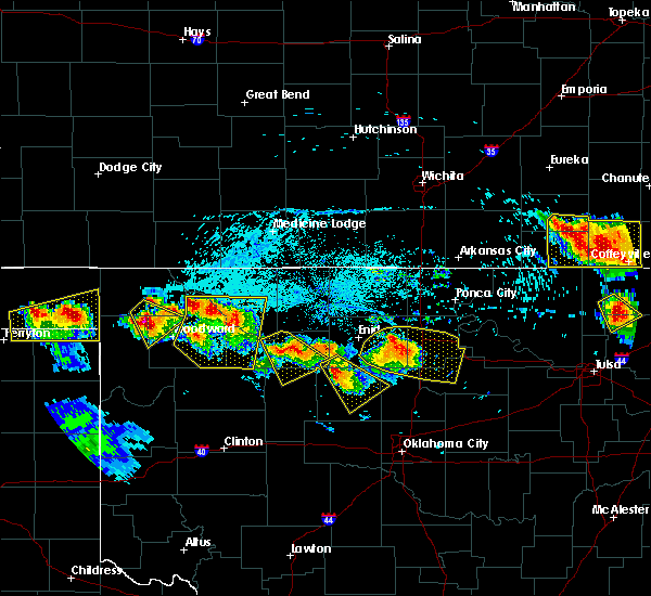 Radar Image for Severe Thunderstorms near Cleo Springs, OK at 7/11/2020 7:50 PM CDT