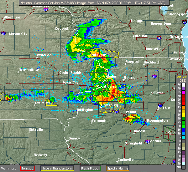 Radar Image for Severe Thunderstorms near Morrison, IL at 7/11/2020 7:58 PM CDT