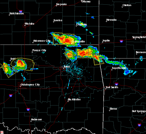 Radar Image for Severe Thunderstorms near Pryor Creek, OK at 7/11/2020 7:58 PM CDT