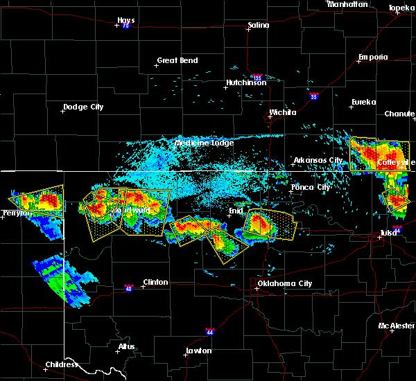 Radar Image for Severe Thunderstorms near Sharon, OK at 7/11/2020 8:02 PM CDT