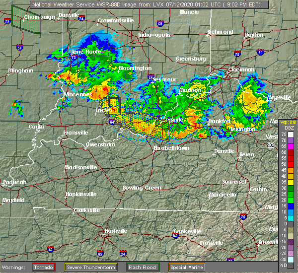 Radar Image for Severe Thunderstorms near French Lick, IN at 7/11/2020 9:08 PM EDT