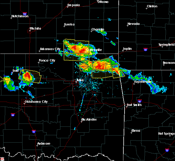 Radar Image for Severe Thunderstorms near Bernice, OK at 7/11/2020 8:09 PM CDT