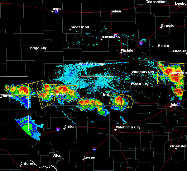 Radar Image for Severe Thunderstorms near Morrison, OK at 7/11/2020 8:11 PM CDT