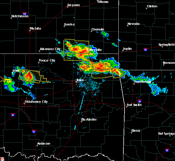 Radar Image for Severe Thunderstorms near Niotaze, KS at 7/11/2020 8:15 PM CDT