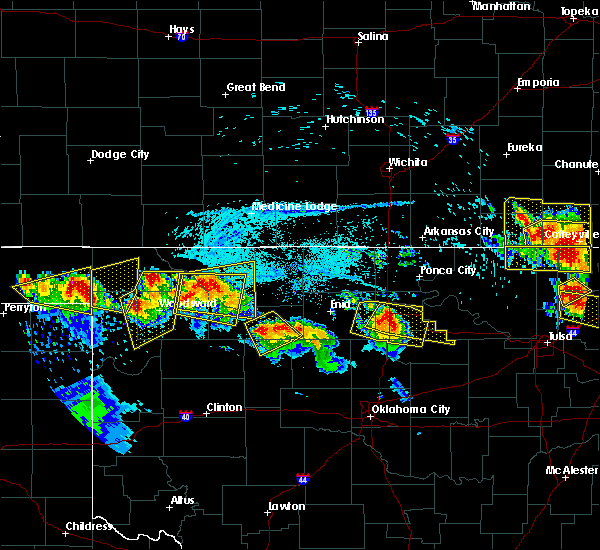 Radar Image for Severe Thunderstorms near Ames, OK at 7/11/2020 8:16 PM CDT
