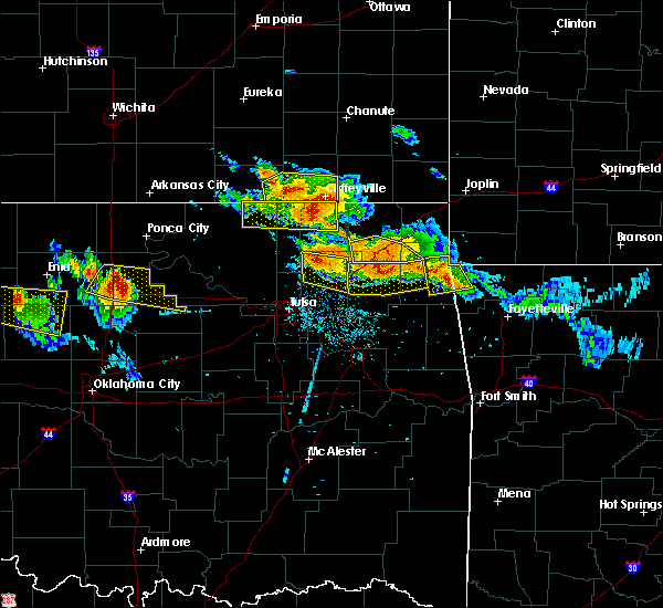 Radar Image for Severe Thunderstorms near Pryor Creek, OK at 7/11/2020 8:17 PM CDT