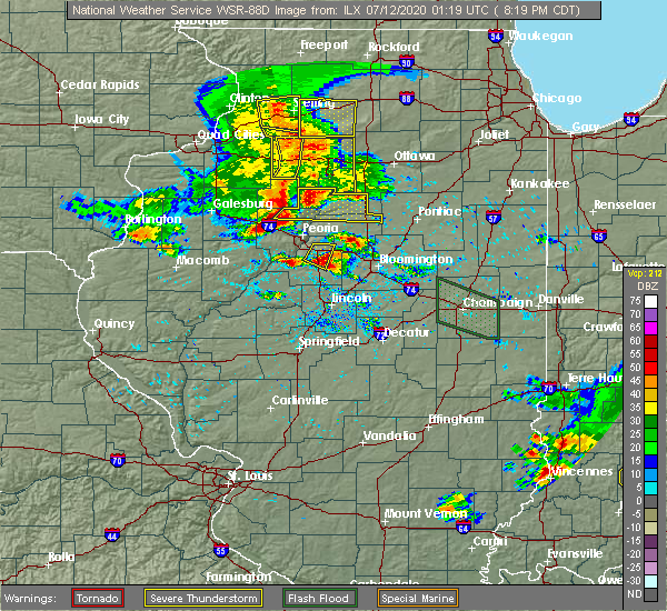Radar Image for Severe Thunderstorms near Twin Grove, IL at 7/11/2020 8:25 PM CDT