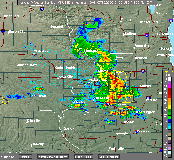 Radar Image for Severe Thunderstorms near Arlington, IL at 7/11/2020 8:26 PM CDT