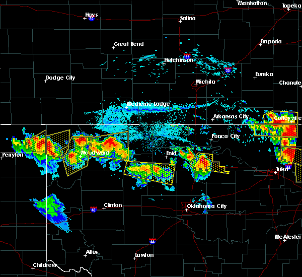 Radar Image for Severe Thunderstorms near Ames, OK at 7/11/2020 8:28 PM CDT