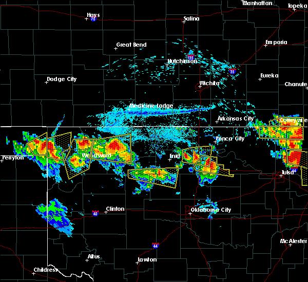 Radar Image for Severe Thunderstorms near Alva, OK at 7/11/2020 8:31 PM CDT