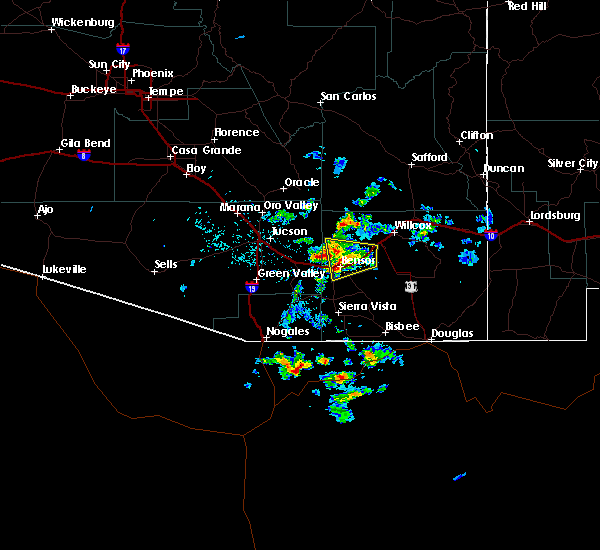 Radar Image for Severe Thunderstorms near Rincon Valley, AZ at 7/11/2020 6:40 PM MST
