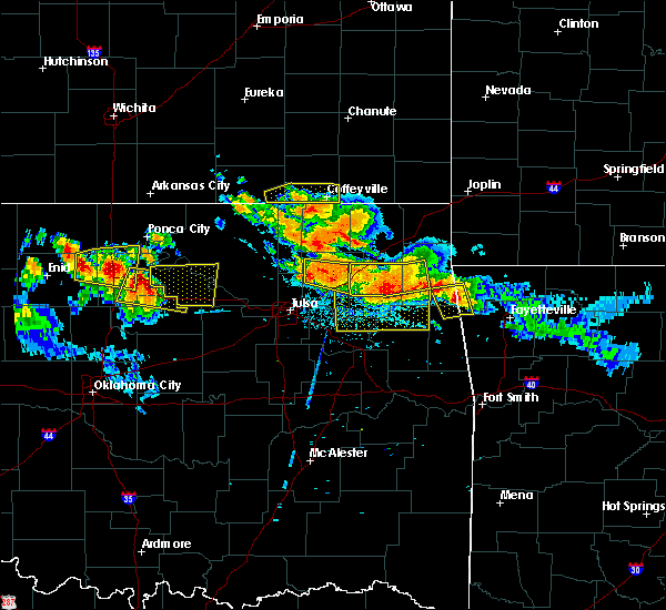 Radar Image for Severe Thunderstorms near Claremore, OK at 7/11/2020 8:39 PM CDT