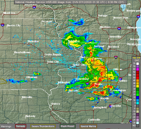 Radar Image for Severe Thunderstorms near Arlington, IL at 7/11/2020 8:44 PM CDT
