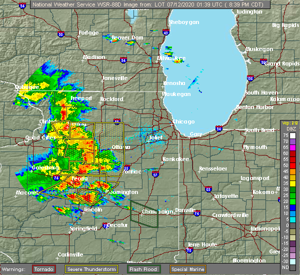 Radar Image for Severe Thunderstorms near Kangley, IL at 7/11/2020 8:46 PM CDT