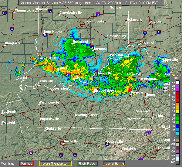 Radar Image for Severe Thunderstorms near Burgin, KY at 7/11/2020 9:52 PM EDT