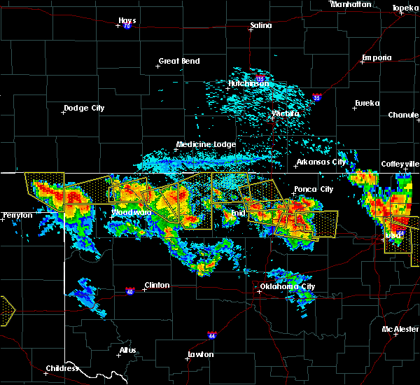 Radar Image for Severe Thunderstorms near Ponca City, OK at 7/11/2020 8:54 PM CDT