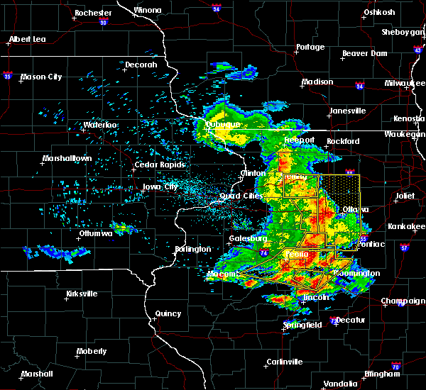 Radar Image for Severe Thunderstorms near Harmon, IL at 7/11/2020 8:56 PM CDT