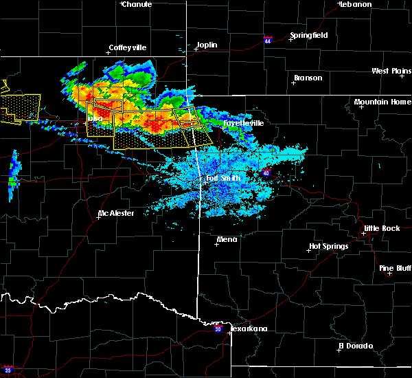 Radar Image for Severe Thunderstorms near Westville, OK at 7/11/2020 8:58 PM CDT