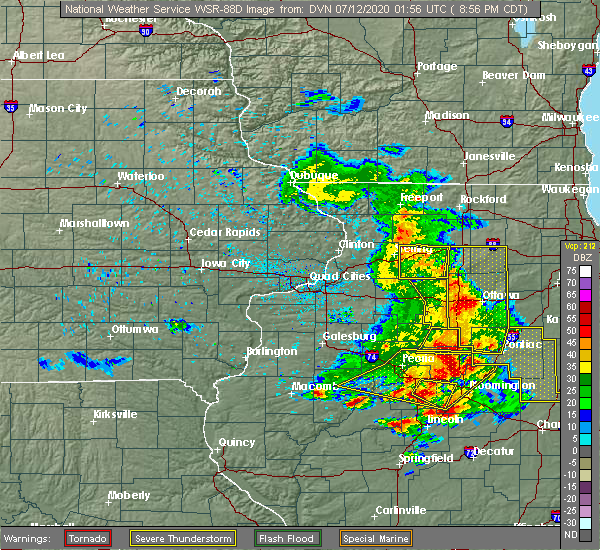 Radar Image for Severe Thunderstorms near Arlington, IL at 7/11/2020 8:59 PM CDT