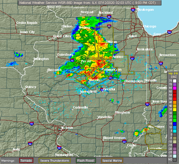 Radar Image for Severe Thunderstorms near Twin Grove, IL at 7/11/2020 9:06 PM CDT