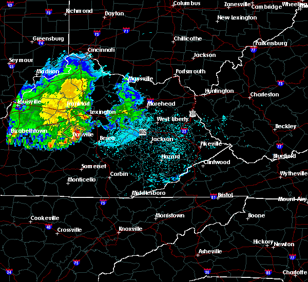 Radar Image for Severe Thunderstorms near Richmond, KY at 7/11/2020 10:09 PM EDT