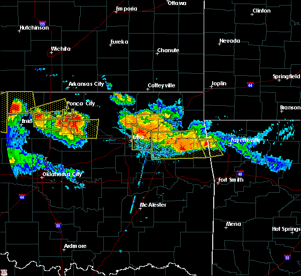 Radar Image for Severe Thunderstorms near Claremore, OK at 7/11/2020 9:08 PM CDT