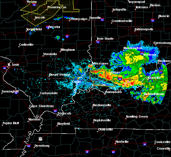 Radar Image for Severe Thunderstorms near Lynnville, IN at 7/11/2020 10:10 PM EDT