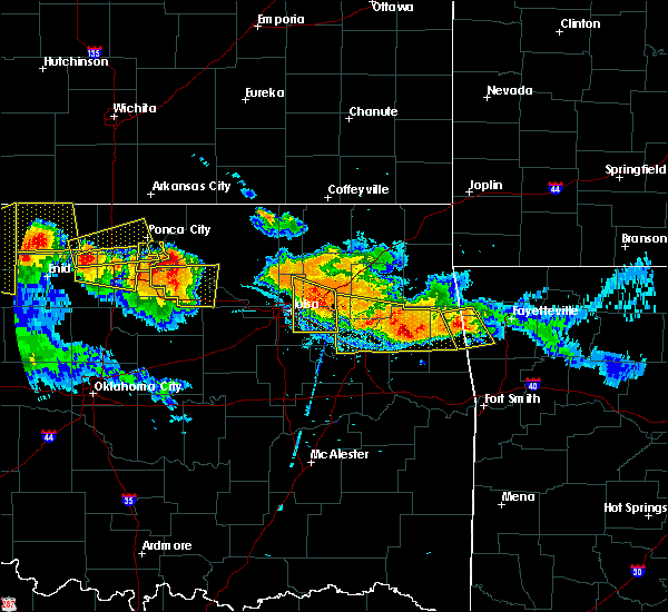 Radar Image for Severe Thunderstorms near Park Hill, OK at 7/11/2020 9:13 PM CDT