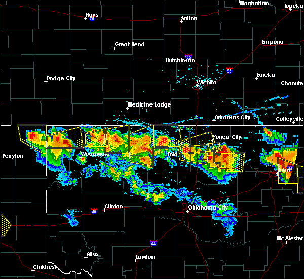 Radar Image for Severe Thunderstorms near Morrison, OK at 7/11/2020 9:13 PM CDT