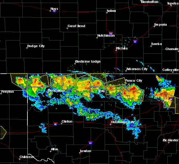 Radar Image for Severe Thunderstorms near Medford, OK at 7/11/2020 9:16 PM CDT