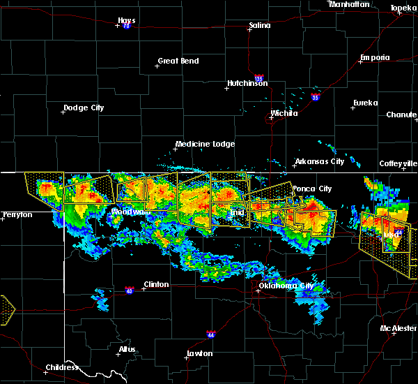 Radar Image for Severe Thunderstorms near Medford, OK at 7/11/2020 9:18 PM CDT