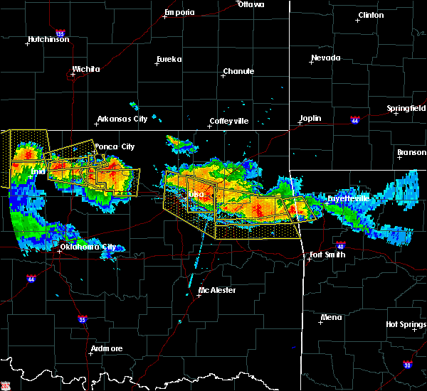 Radar Image for Severe Thunderstorms near Mannford, OK at 7/11/2020 9:18 PM CDT