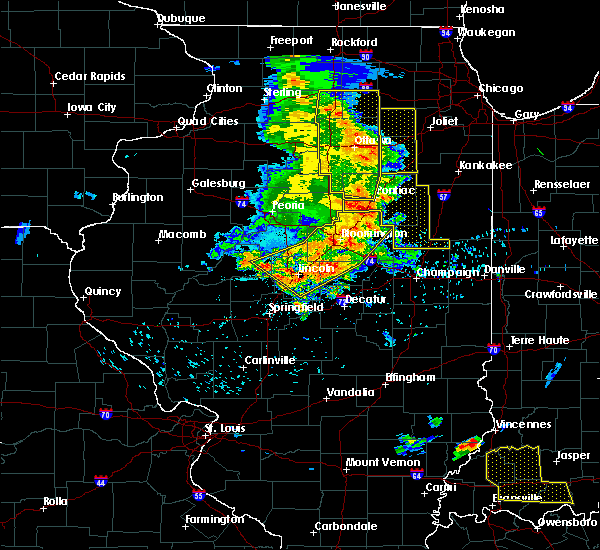 Radar Image for Severe Thunderstorms near Penfield, IL at 7/11/2020 9:26 PM CDT