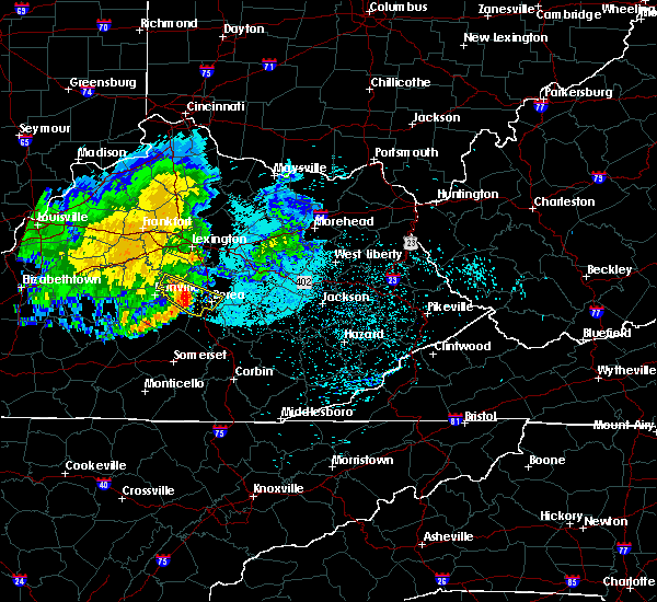 Radar Image for Severe Thunderstorms near Richmond, KY at 7/11/2020 10:28 PM EDT