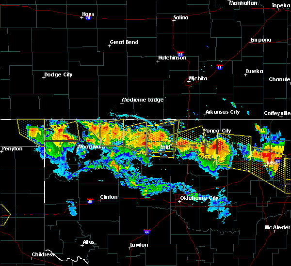 Radar Image for Severe Thunderstorms near Perry, OK at 7/11/2020 9:28 PM CDT
