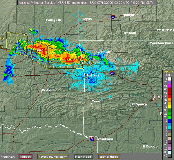 Radar Image for Severe Thunderstorms near Long, OK at 7/11/2020 9:30 PM CDT