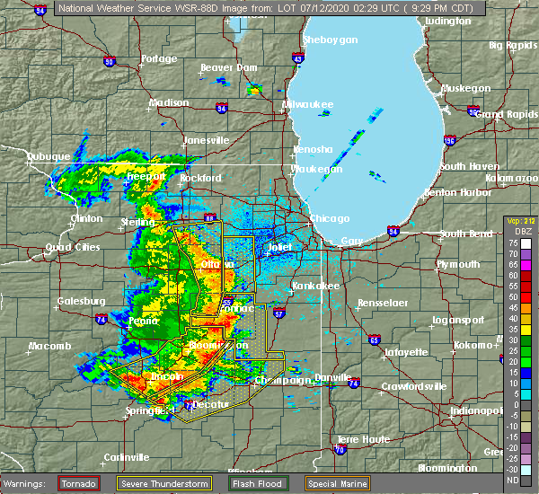 Radar Image for Severe Thunderstorms near Cornell, IL at 7/11/2020 9:31 PM CDT