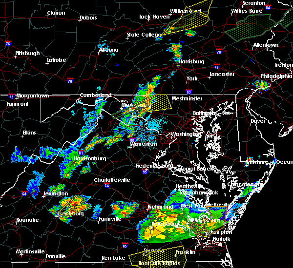 Radar Image for Severe Thunderstorms near Walkersville, MD at 6/30/2015 10:24 PM EDT