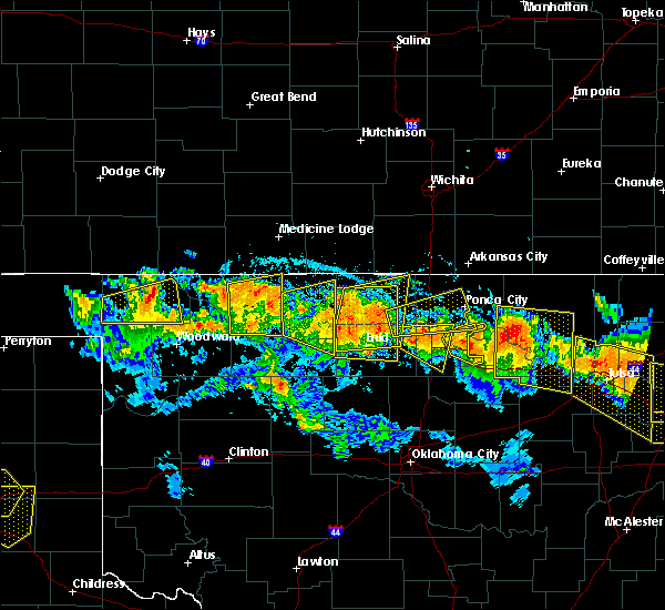 Radar Image for Severe Thunderstorms near Buffalo, OK at 7/11/2020 9:32 PM CDT