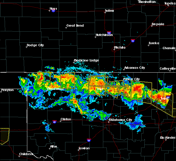 Radar Image for Severe Thunderstorms near Fairmont, OK at 7/11/2020 9:36 PM CDT