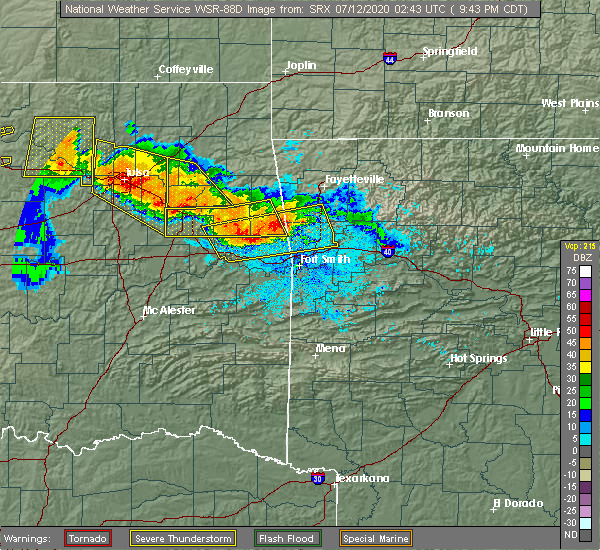 Radar Image for Severe Thunderstorms near Long, OK at 7/11/2020 9:47 PM CDT