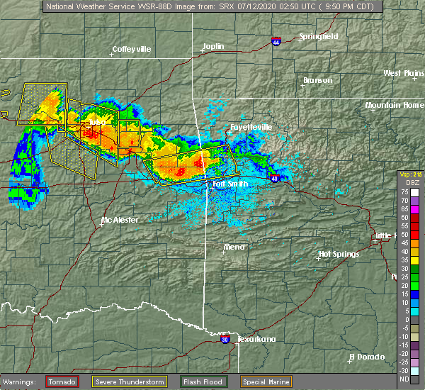 Radar Image for Severe Thunderstorms near Long, OK at 7/11/2020 9:57 PM CDT