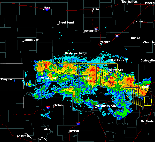 Radar Image for Severe Thunderstorms near Billings, OK at 7/11/2020 10:05 PM CDT