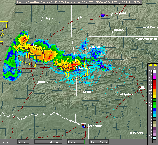 Radar Image for Severe Thunderstorms near Long, OK at 7/11/2020 10:07 PM CDT