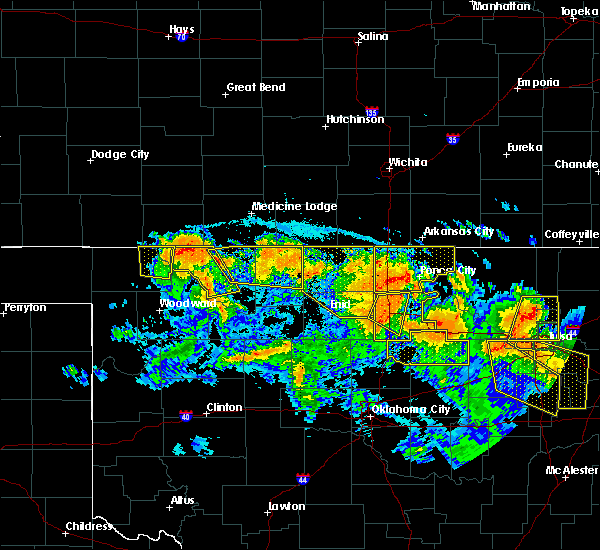 Radar Image for Severe Thunderstorms near Billings, OK at 7/11/2020 10:15 PM CDT