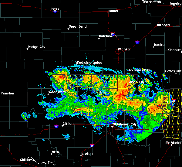 Radar Image for Severe Thunderstorms near Waldron, KS at 7/11/2020 10:28 PM CDT