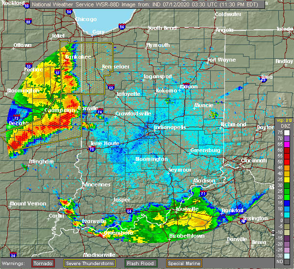 Radar Image for Severe Thunderstorms near St. Bernice, IN at 7/11/2020 11:35 PM EDT